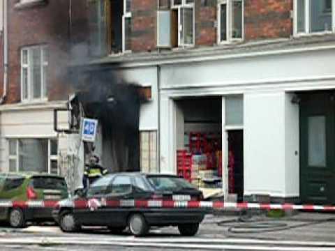 Fire explosion in sun center in Copenhagen