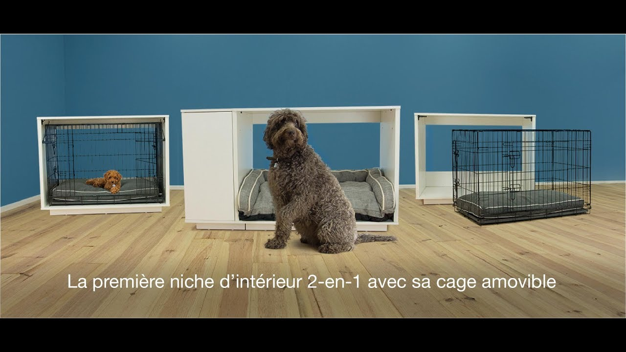 niche d int rieur 2 en 1 pour chiens fido nook youtube. Black Bedroom Furniture Sets. Home Design Ideas