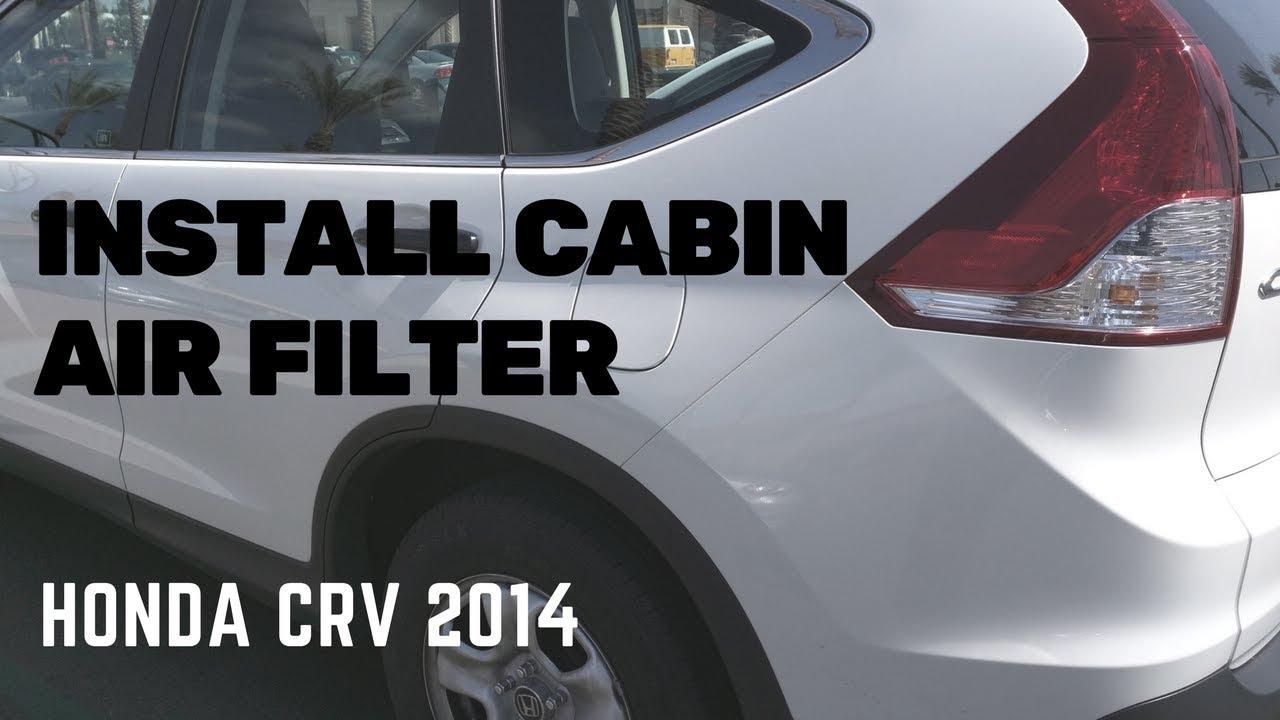 Install Cabin Air Filter on Honda CRV 2014  YouTube