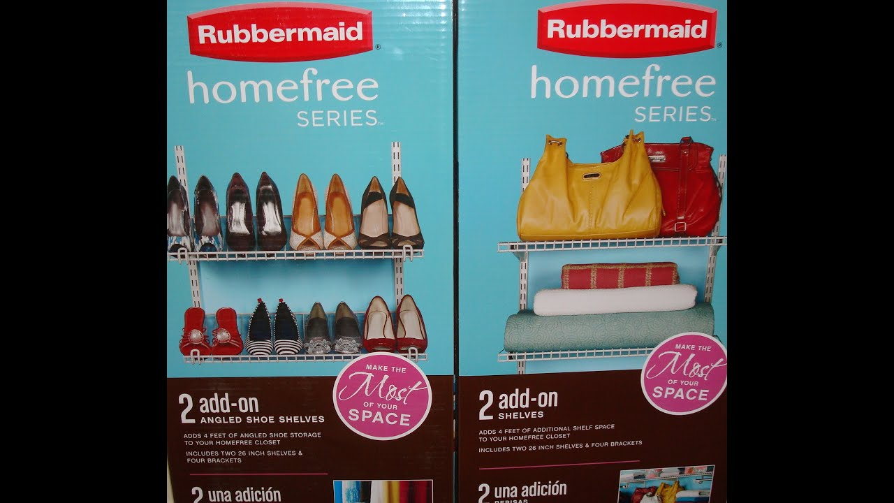 Rubbermaid Homefree Series - Add On Shelves Kits - YouTube