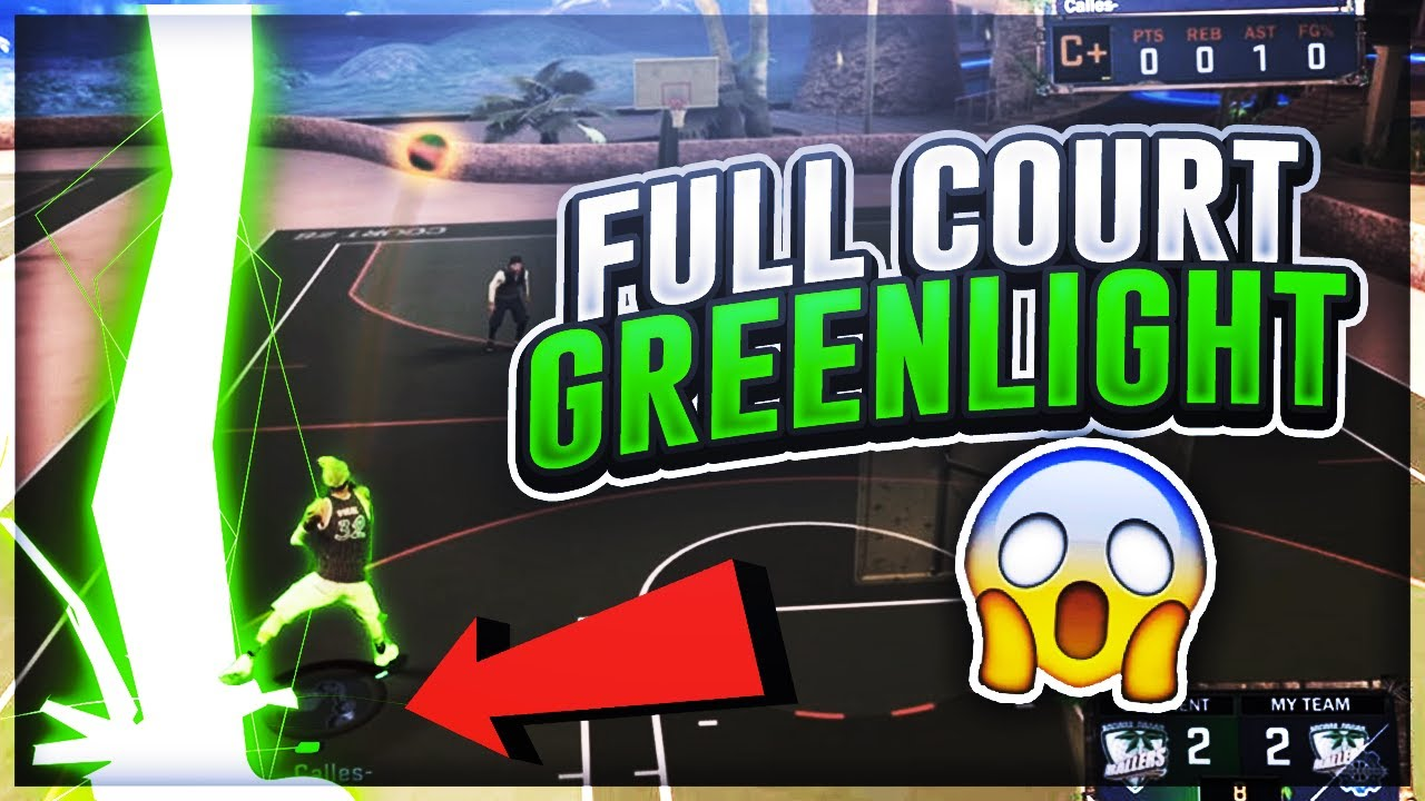 FIRST EVER FULL COURT GREEN LIGHT? 😳 SHOOT IT WHERE IT LANDS CHALLENGE!  NBA 2K17 MyPARK CHALLENGE!