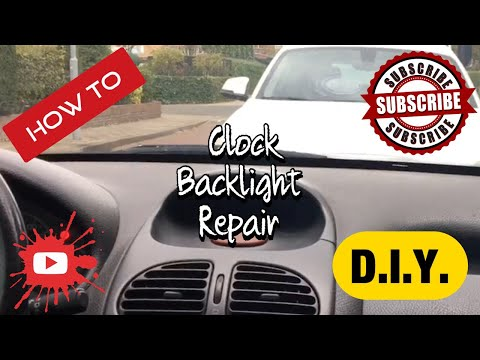 Project Peugeot ep2 How to repair the clock backlights (Peugeot 206)