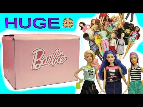 Biggest Haul Giant Box of The Coolest Barbie Dolls Tall, Petite, Curvy Fashionistas