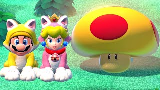 Super Mario 3D World 100% Walkthrough Part 6 - World Mushroom & World Flower