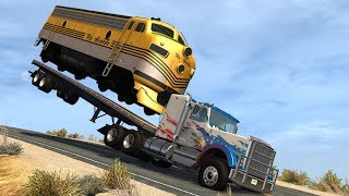 Trucks Vs Trains #1 BeamNG Drive Crashes - Insanegaz