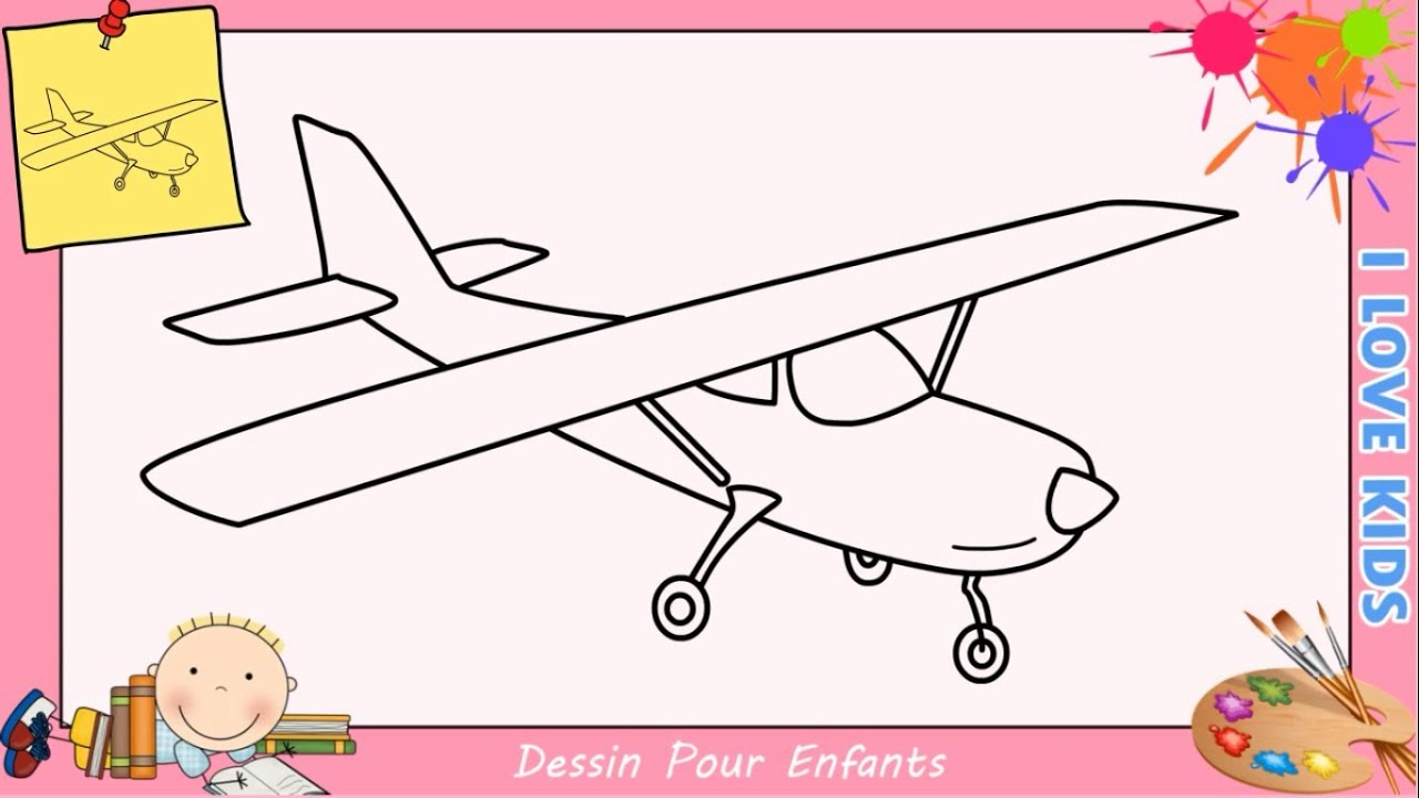 Dessin avion facile etape par etape comment dessiner un avion facilement 1 youtube - Dessin d avion facile ...