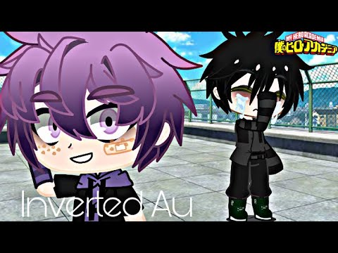 Inverted Au react to original + Villain deku Au ||bnha react||Gachaclub||