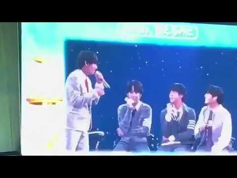 Taekook singing to all of me and Jungkook Slap taehyung butt