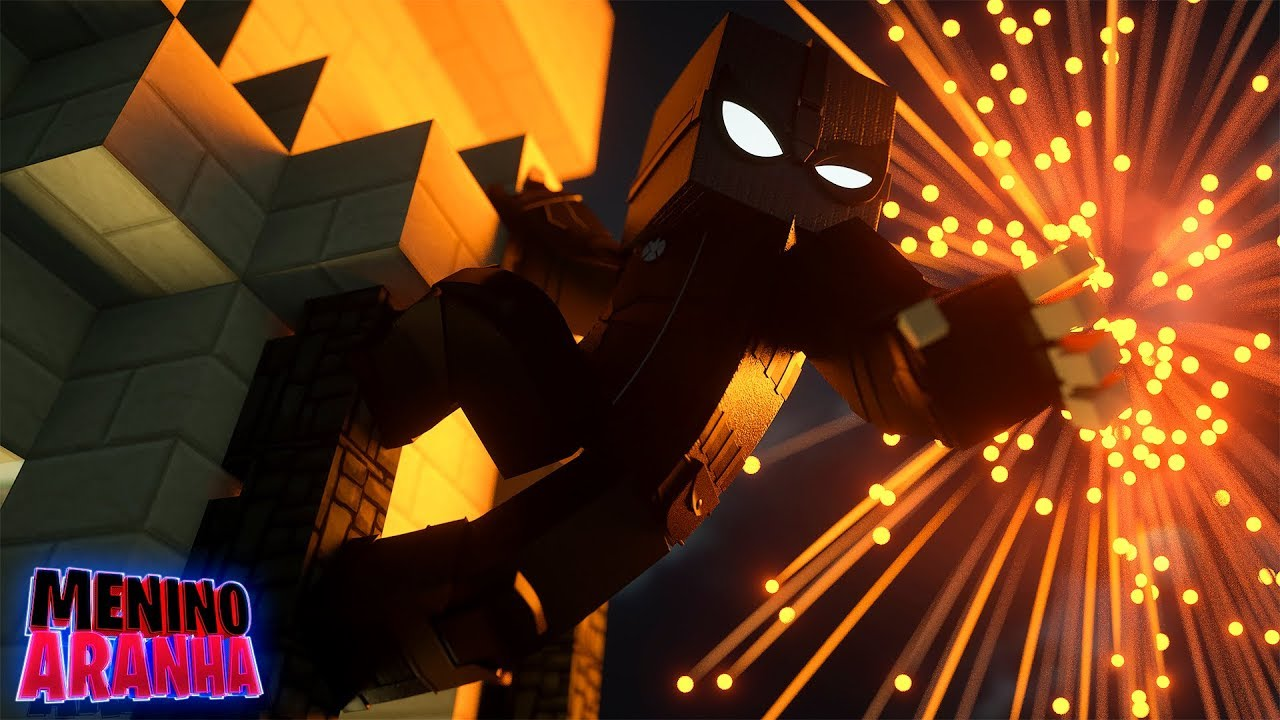 Minecraft: MENINO ARANHA - MONSTRO DE FOGO ATACOU A CIDADE! (LONGE DE CASA) #395