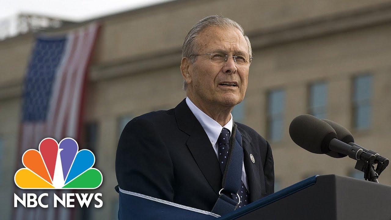 Donald Rumsfeld dies at 88. The former defense secretary oversaw ...