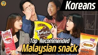 Koreans try famous Malaysian snacks!