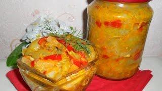 Икра (салат) из зеленых помидоров.  Заготовки на зиму