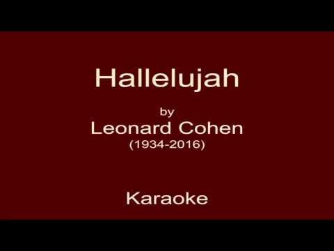 Hallelujah (L. Cohen) - Karaoke