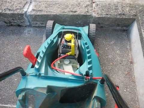 help trouble with bosch rotak 34 lawnmower youtube. Black Bedroom Furniture Sets. Home Design Ideas