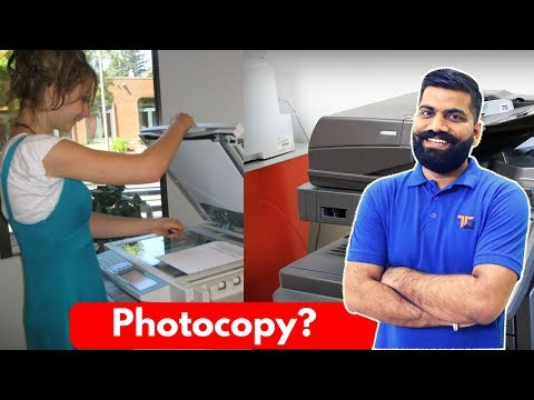 How Photocopier Works? Scan, Copy, Print?