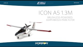 e flite icon a5 1 3m pnp and bnf basic