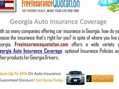 Georgia Auto Insurance Company - Auto Insurance Quotes In Georgia