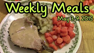 Weekly Meals May 3-9, 2015