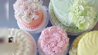 Different types of icing for cake decorating Professional cake