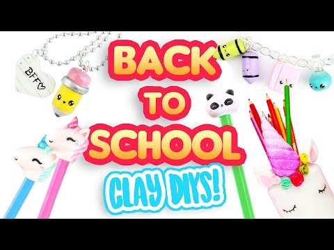 5 BACK TO SCHOOL DIY's! - Polymer Clay Compilation!