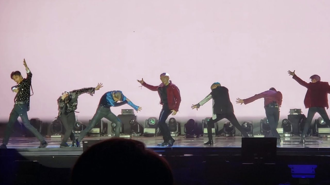 FANCAM 191005 SuperM I Can't Stand the Rain @ 슈퍼엠 Debut Showcase Capitol Records Hollywood Conc