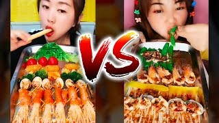 Japan Food Eating - Eating seafood, meat, fruit,  gourmet tray, Chinese food | Eating Show #2