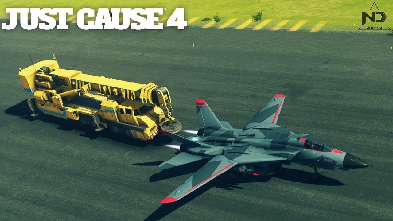 Just Cause 4 #29 – Thử lấy máy bay phản lực kéo những thứ khủng nhất | ND Gaming