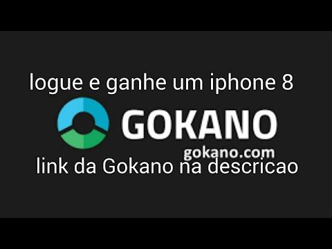 Gokano,logue e ganhe um iphone 8(funciona)