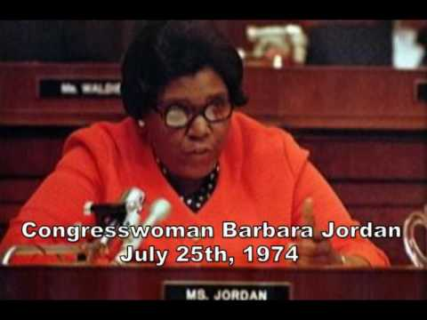 Congresswoman Barbara Jordan - July 25th, 1974