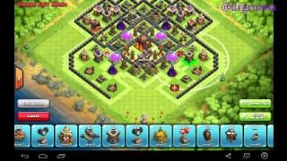 Indonesia punya !!! Clash of clans [ COC ] : Town Hall 10 Trophy base + air sweper