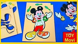 Micky Maus Wunderhaus Walt Disney Puzzle Spiel für Kleinkinder - Deutsch
