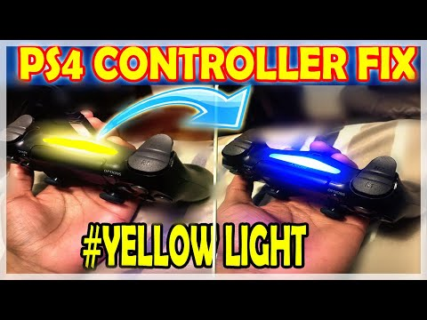 How To Fix Your PS4 Controller If Only A YELLOW Light Flashes After Plugged In ( 2018 Resolution )