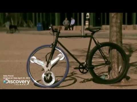 The GeoOrbital wheel on the Discovery Channel