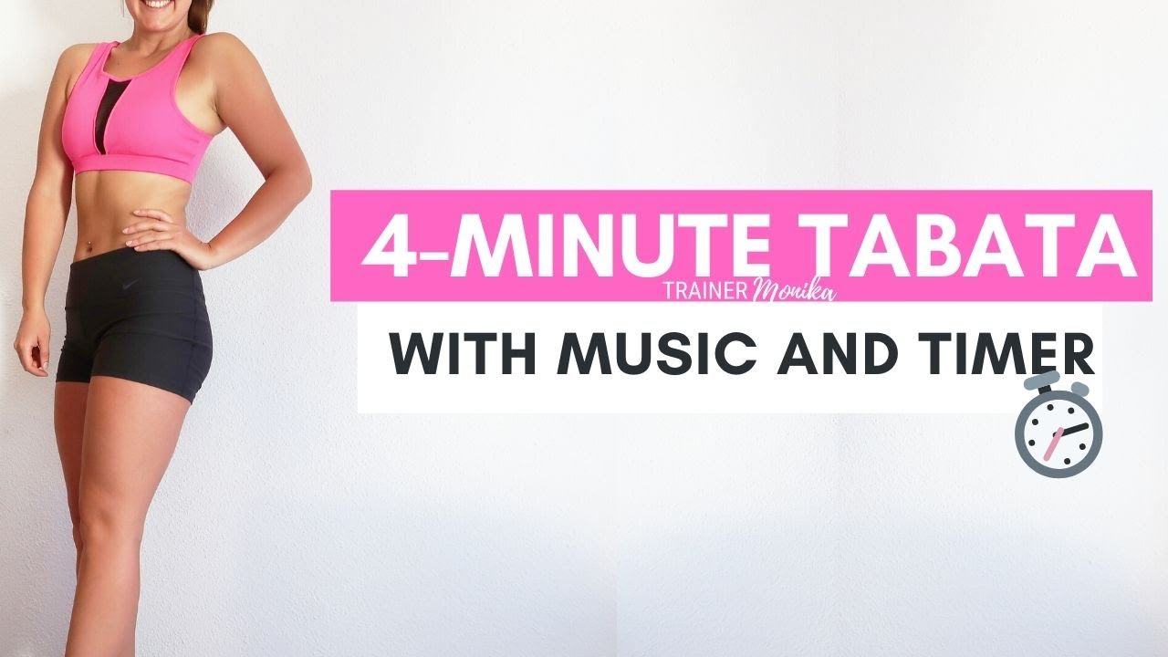 4-Minute Fat Burning Workout   Tabata exercises with music and timer