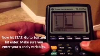 Correlation Coefficient in TI-83, TI-84 Calculator