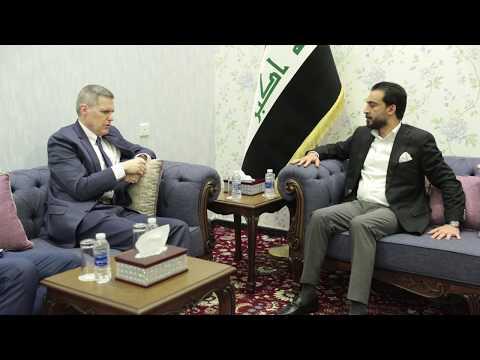 لقاء رئيس البرلمان محمد الحلبوسي مع سفير الولايات المتحدة الأميركية لدى العراق السيد ماثيو تولر