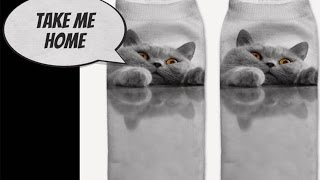 Kitty Cat 3D Socks