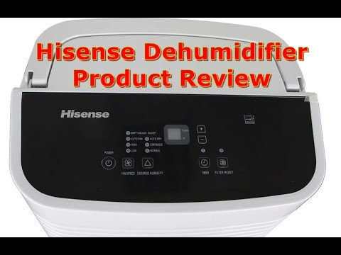 Hisense Dehumidifier Product Review - YouTube