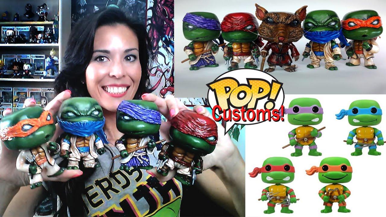 Custom Funko Pop Teenage Mutant Ninja Turtles Set Diy
