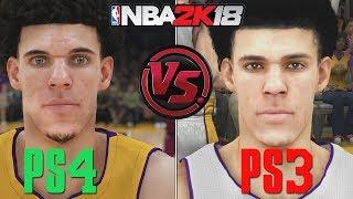 NBA 2K18 - PS4 vs PS3 Graphics/Face/Gameplay COMPARISON | Current Gen vs Last Gen