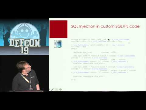 [DEFCON 19] Hacking and Securing DB2 LUW Databases