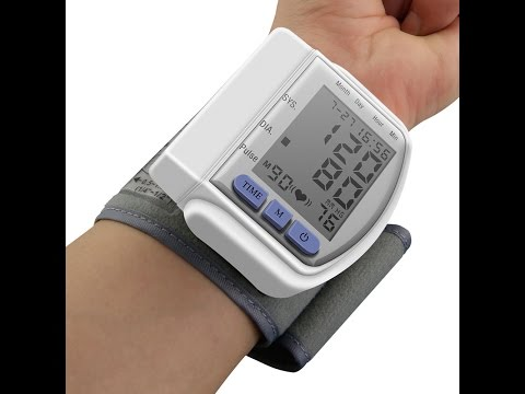 Тонометр цифровой на запястье. Automatic wrist watch Blood Pressure Monitor CK-102S