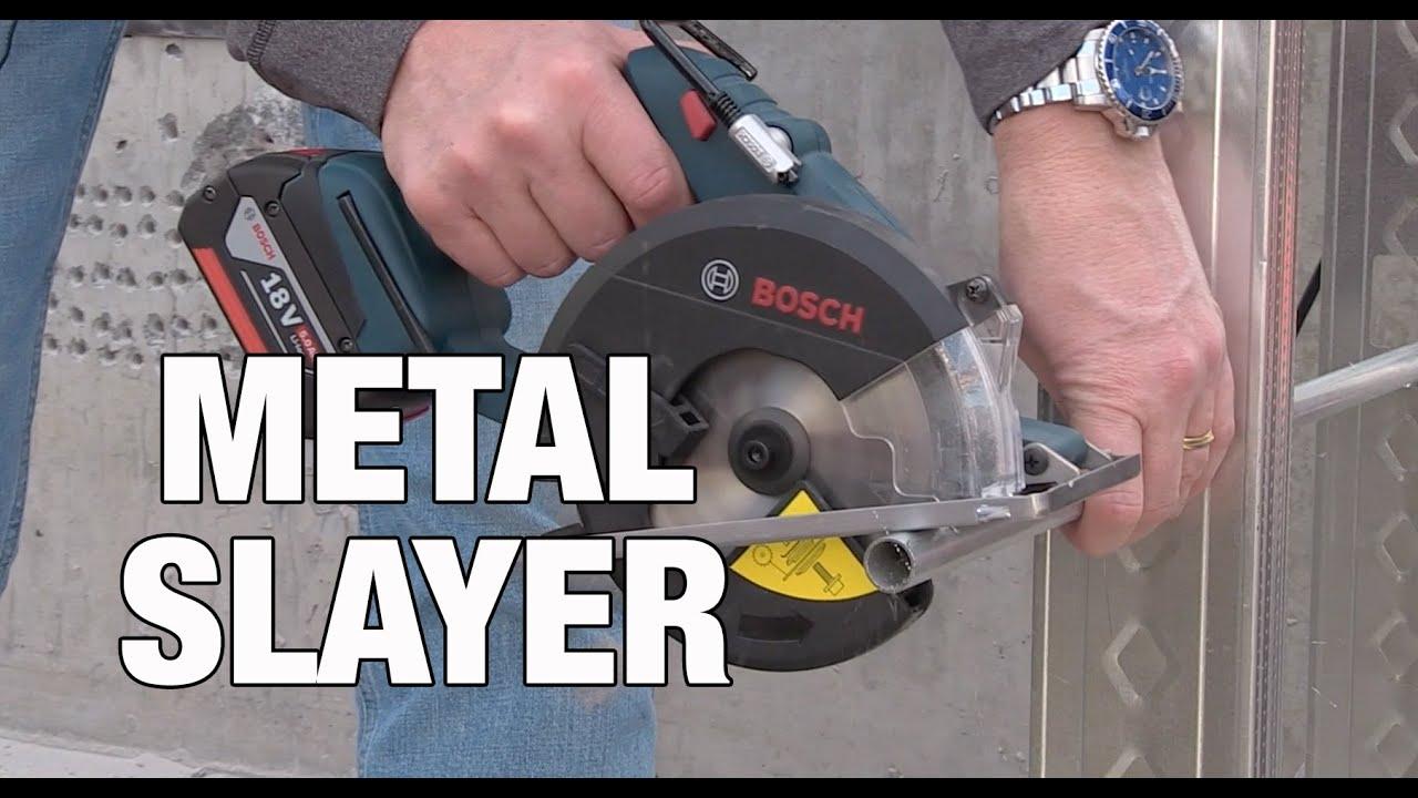 Bosch Metal Cutting Circular Saw Csm 180 Youtube