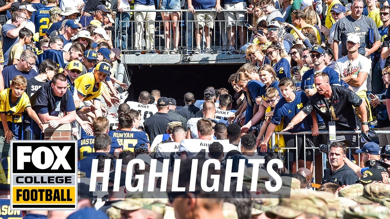 Michigan survives 2OT vs Army on strip-sack | 60 IN 60  COLLEGE FOOTBALL HIGHLIGHTS