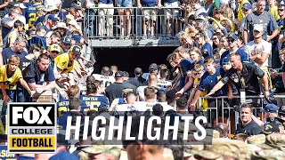 Michigan survives 2OT vs Army on strip-sack   60 IN 60   FOX COLLEGE FOOTBALL HIGHLIGHTS