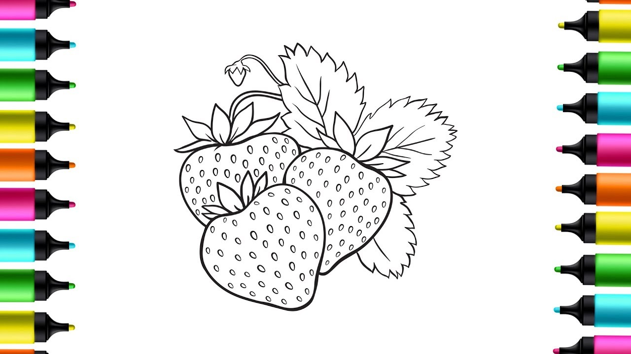Sweet Strawberry coloring page | Free Printable Coloring Pages | 720x1280