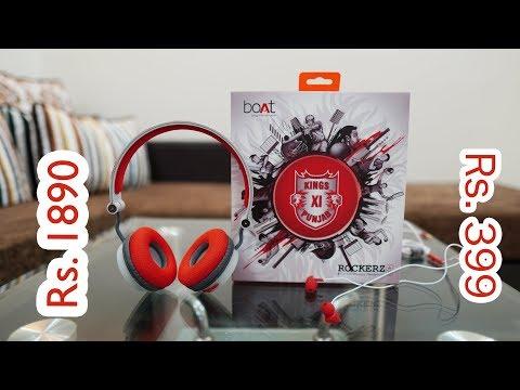 boAt Kings XI Punjab Edition Bassheads 100 and Rockerz 400 Bluetooth Wireless Headphone