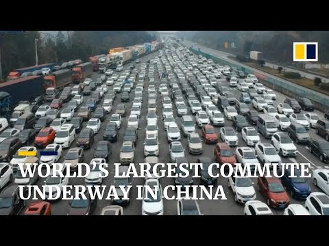 World's 'largest migration' begins ahead of Chinese New Year