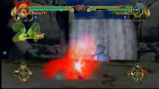 naruto ultimate ninja storm me naruto nine tailed fox vs sasuke level 2