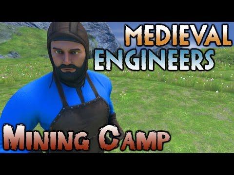 Medieval Engineers Multiplayer Gameplay - Ep 1 - Mining Camp